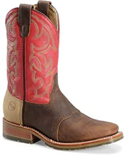 47532b06aaa Double H Men s Ice Outsole Durable Cowboy Boot with Red Shaft and Square Toe