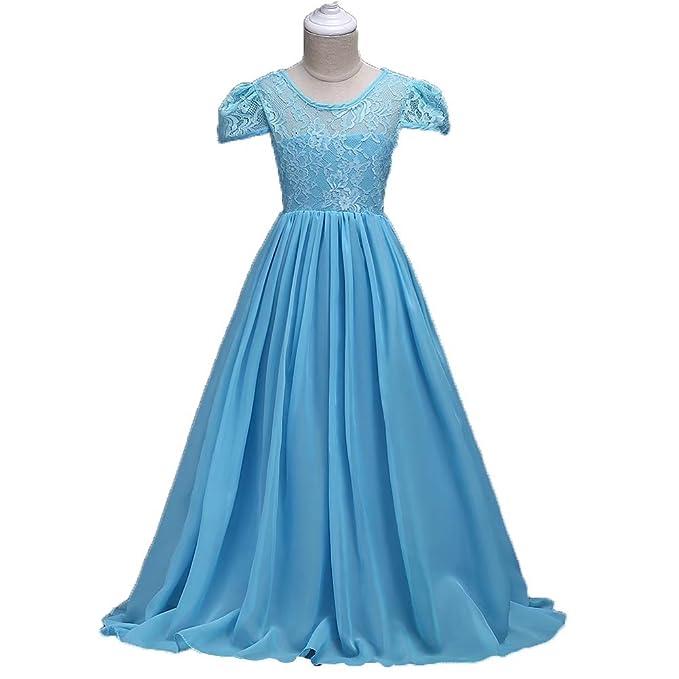 bf2045341685 Amazon.com  Kids Showtime Big Girls Lace Chiffon Floor Length Dress ...