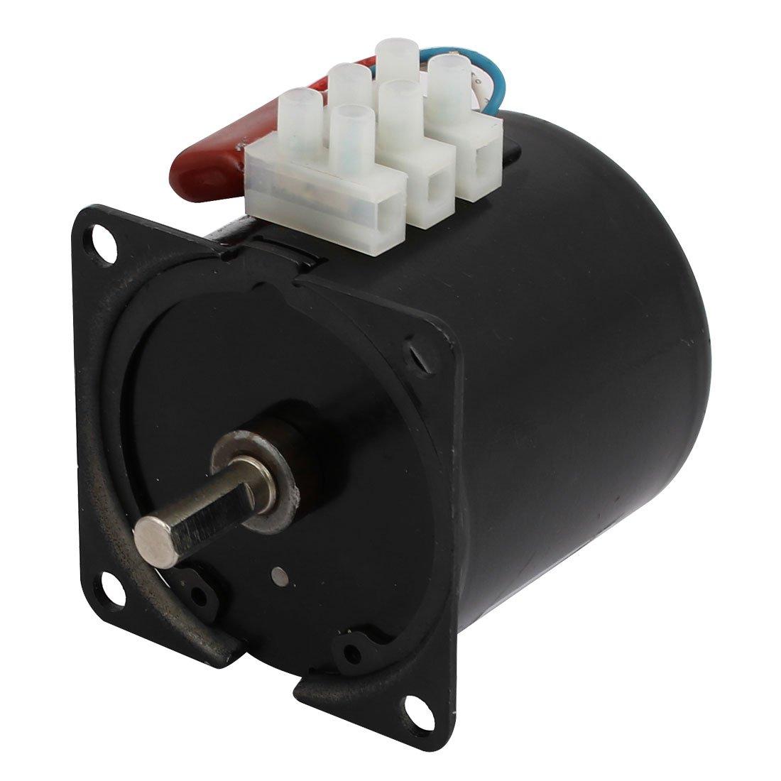 sourcingmap 60mm dia corps arbre 7mm AC 220V 40 RPM moteur ré ducteur sync