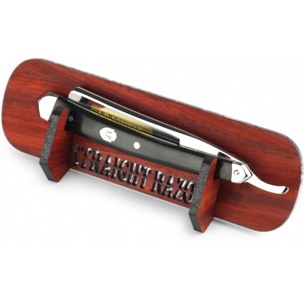 A.P. Donovan - Stand de la maquinilla de afeitar - para la maquinilla de afeitar estándar - hecho a mano, ahorro de espacio - Juego de regalo
