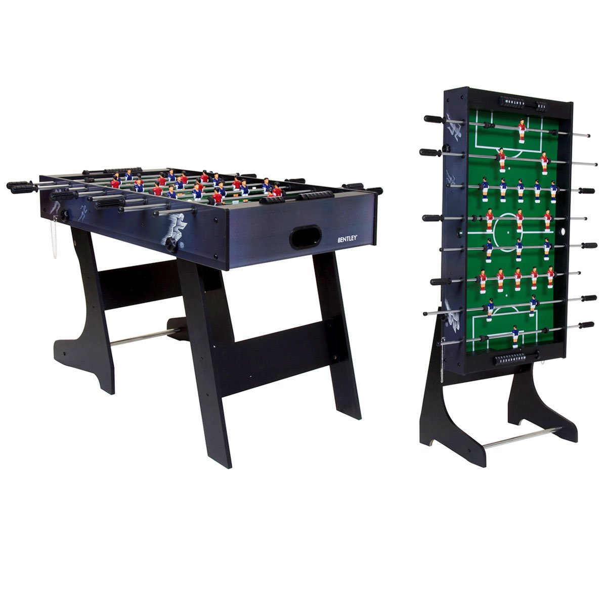 Charles Bentley Premium 4ft Folding Football Table Games Table Foosball  Sports: Amazon.co.uk: Toys U0026 Games