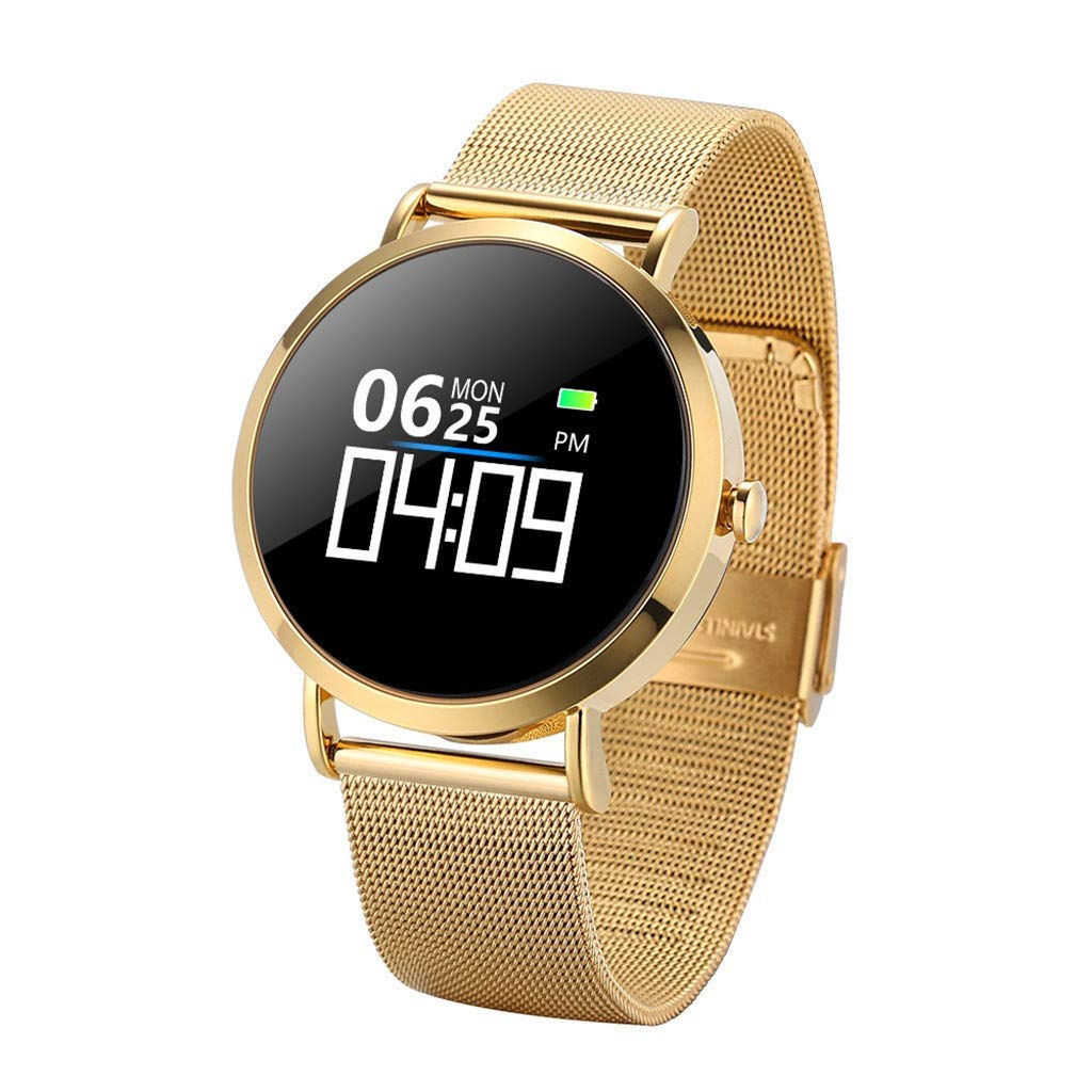 For iOS Android, Waterproof Sport Smart Watch Fitness Activity Blood Pressure Heart Rate Sleep Monitoring Smart Bracelet (A) by YNAA (Image #1)