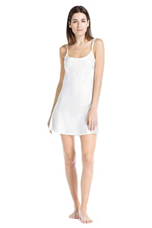 Fishers Finery Women s 100% Pure Mulberry Silk Chemise  Nightgown at ... 84b83e9f9