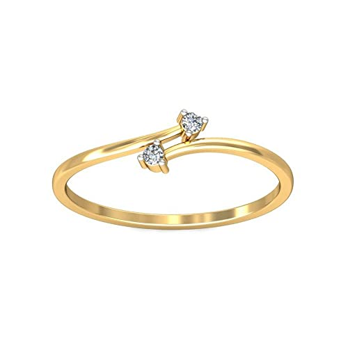 Belle Diamante 14KT Yellow Gold and Diamond Ring Rings