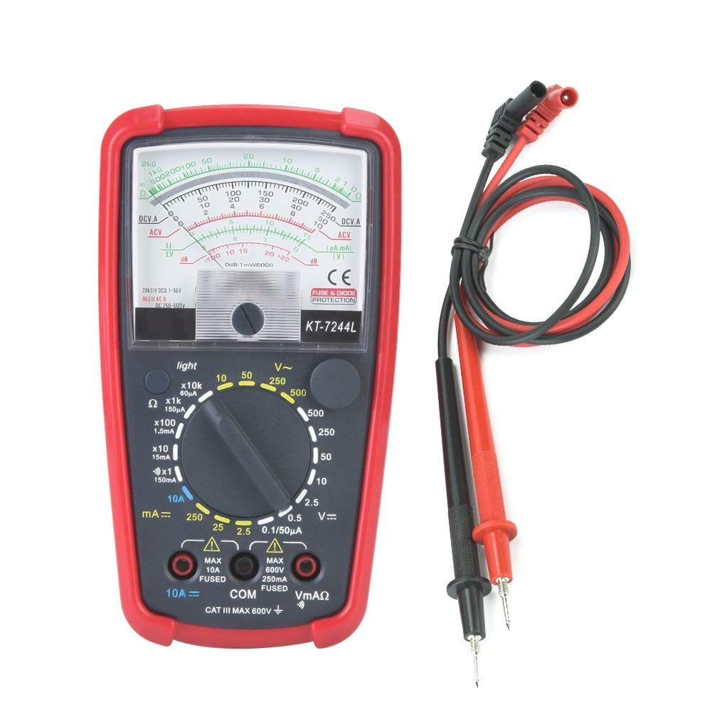 Multimeter - KT7244L Multifunction High Sensitivity Precision Handheld Analog Multimeter by MLMLH