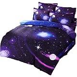 Etelux Ropa de Cama de 3 piezas, Cama de tamaño de Queen, diseño de galaxia infinita, color #7