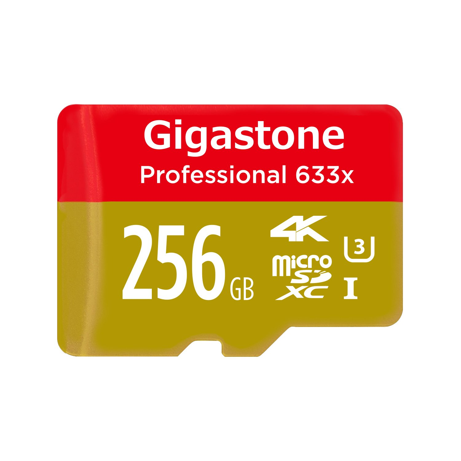 Gigastone 256GB Micro SD Card Professional 4K Ultra HD, Micro SDXC U3 C10 Class 10 Uhs Memory Card High Speed Up to 95MB/S with MicroSD SD Adapter, Camera Canon Dashcam DJI Drone Gopro Nikon Nintendo