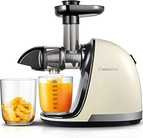 Slow-Juicer,AMZCHEF-Slow-Masticating-Juicer-Extractor-Professional-Machine-with-Quiet-Motor