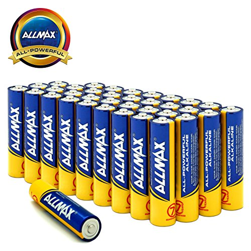 ALLMAX All-Powerful Alkaline Batteries- AAA (36-Pack), Ultra Long Lasting, Leak-Proof, 1.5V (Triple Film Cell)