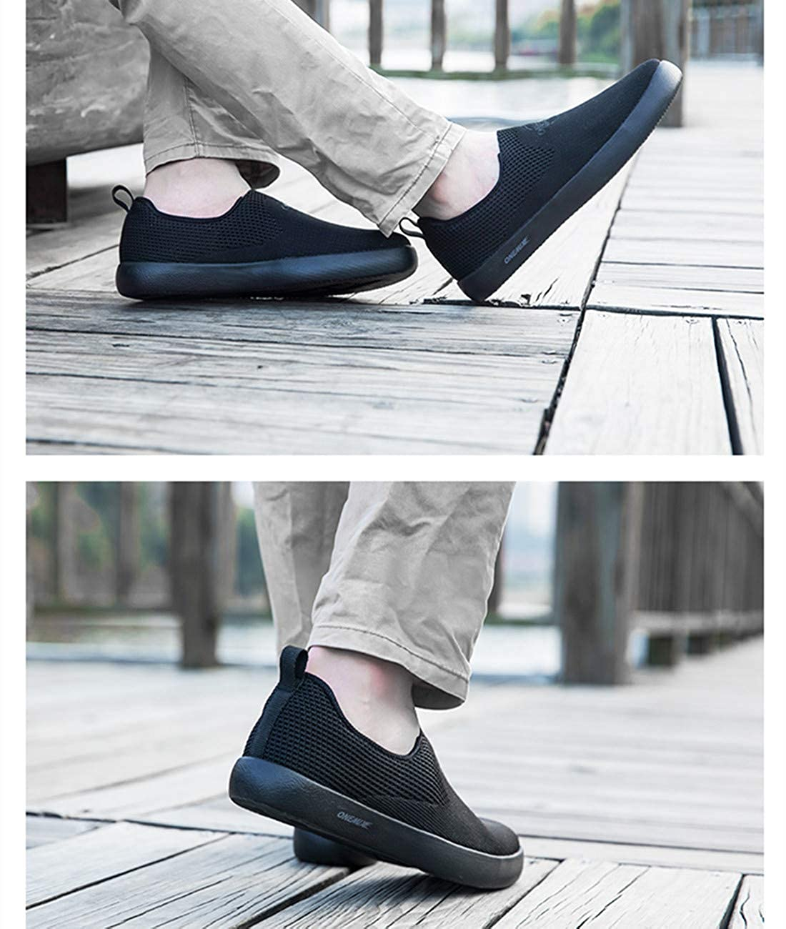 ONEMIX Mens Slip On Shoes Leisure Fitness Sport Street Road Tennis Shoes