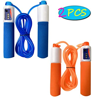 HONGID Jump Rope Skipping Rope for Kids with Counter Children Exercise Jumping Game Fitness Activity Soft Sponge Handle,Gifts for Kids,Parents,Toys for Students Boys and Girls: Sports & Outdoors