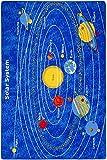 Children's 5' X 7' Area Rug Kids Carpet Non Skid Gel Backing (Solar System)