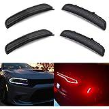 Amber Red LED Side Marker Light for Dodge Charger 2015 2016 2017 2018 2019 Smoke Lens Led Side Marker Lights Front…