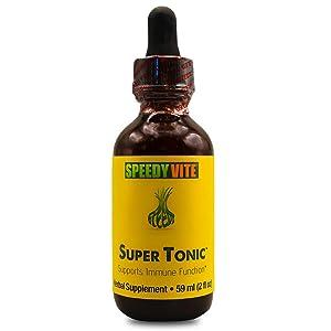 SpeedyVite® Herbal Super Tonic Enhanced Organic (2 fl oz) Apple Cider Vinegar Horseradish Onion Garlic Ginger Serrano Cayenne Habanero Pepper Natural wildcrafted Supports Immune Function*
