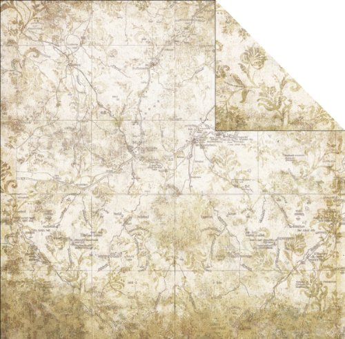 """Timeless Travel Double-Sided Paper 12""""X12""""-Map"""