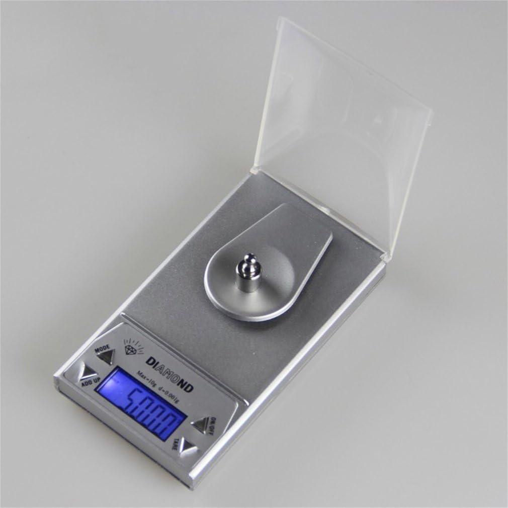 leoboone High Precision Compact et exp/érience portable 10//20 50G LCD Lab 0.001g Balance de bijoux num/érique Herb Balance des poids Gram