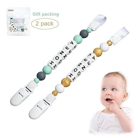 Pinzas para chupete Kyson Baby Teether - (Paquete de 2 ...