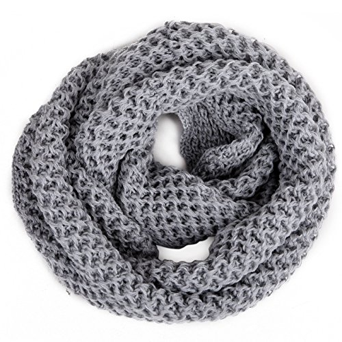 HDE Women's Winter Infininty Crochet Scarf Warm Thick Circle Loop Cowl Neck Wrap