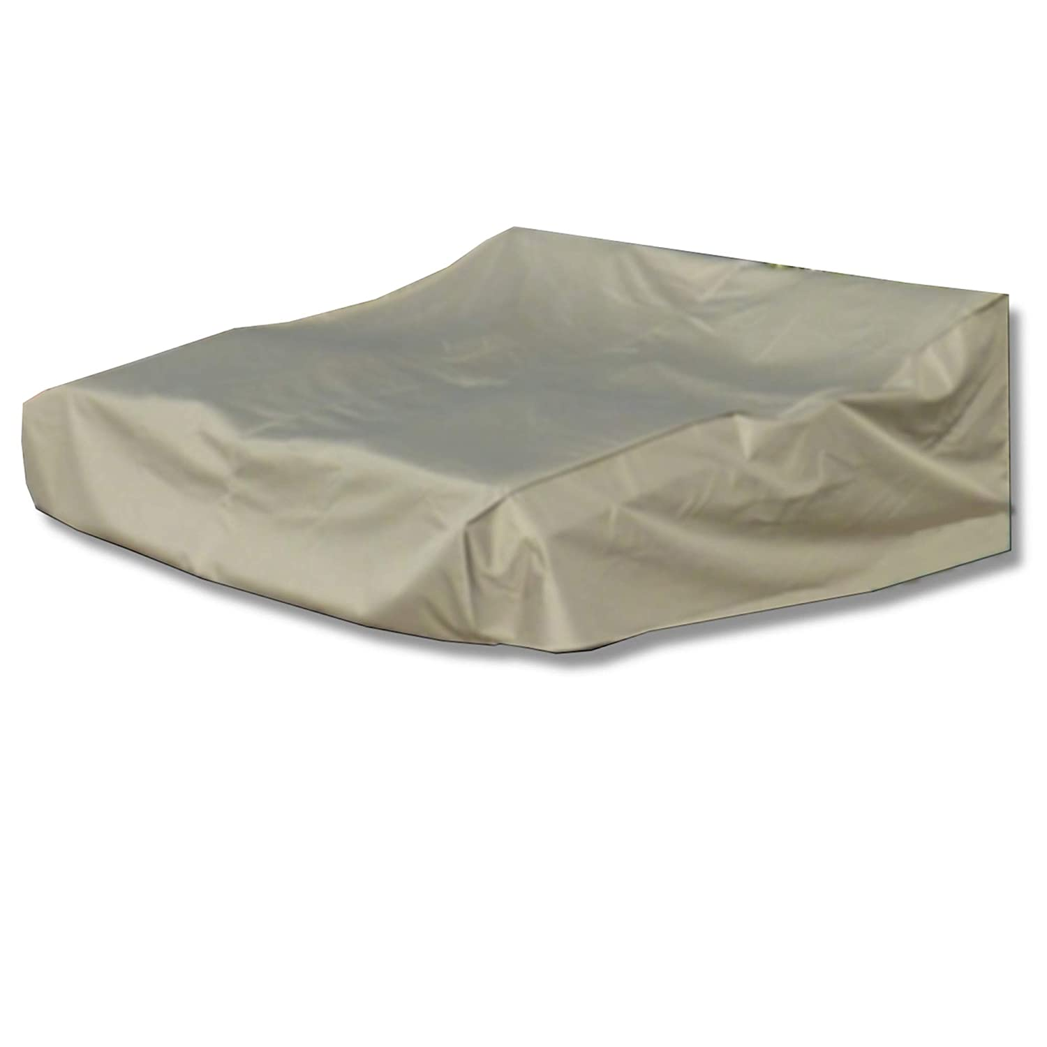 Amazon com sunmart double chaise cover premium tight weave all weather protection for your patio furniture up to 90l x 75w x 30h back taupe