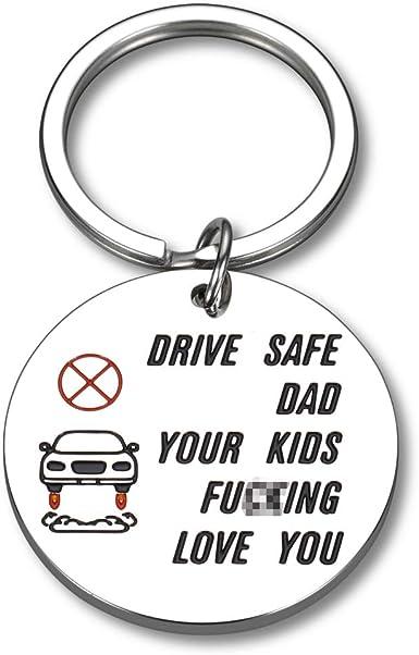 Drive safe daddy I love you Jewelry Gifts car keychain for Boyfriend Husband Dad