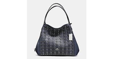 00523ee868 Image Unavailable. Image not available for. Color  Coach Edie floral rivets  shoulder bag ...