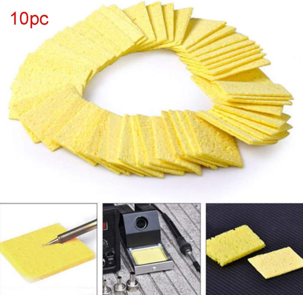 Soldering 10 Pcs Cleaning Tip Welding Lightweight Pads Sponge Soldering Iron Durable