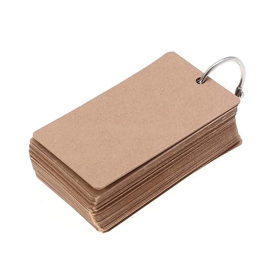50pc Binder Ring Fácil Flip Tarjeta Flash Tarjetas de ...