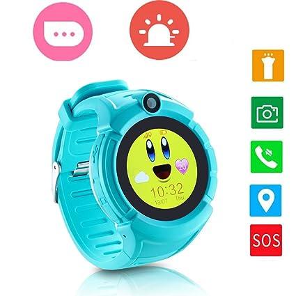 Reloj para Niños 1.22 Niños Inteligente Relojes GPS Tracker Pulsera Reloj Inteligente SOS Pantalla