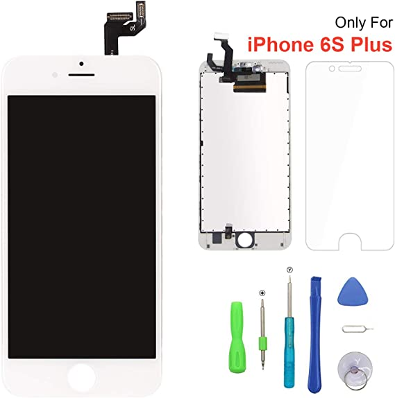 Amazon.com: Screen Replacement for iPhone 6s Plus White 3D Touch Screen LCD  Digitizer Replacement Frame Display Assembly Set with Repair Tool Kits(6s  Plus, White)