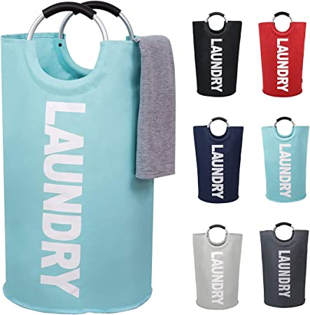 Large Laundry Basket Collapsible Hamper Tall Foldable Clothes Bag Washing Bin
