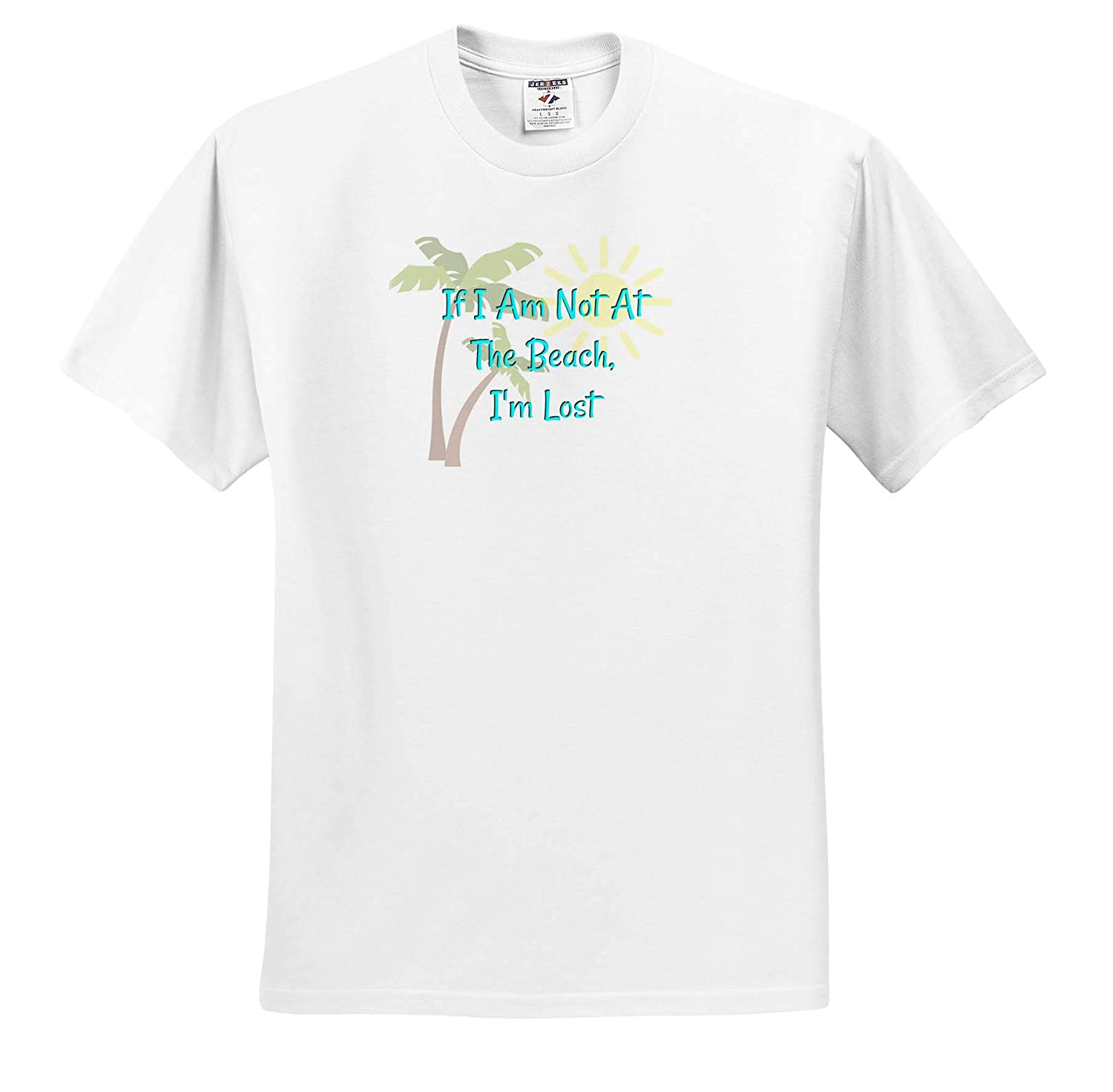 3dRose Carrie Merchant Image of If Im Not at The Beach Im Lost ts/_309862 Adult T-Shirt XL