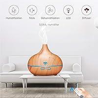 3 en 1 Difusor de Aroma,Humidificador d'air 500ml Purificador,Difusor de Aceites Esenciales-7 Colores+4 Temporizador-Para la Habitación del Bebé/SPA/Yoga/Masaje/Oficina,Etc
