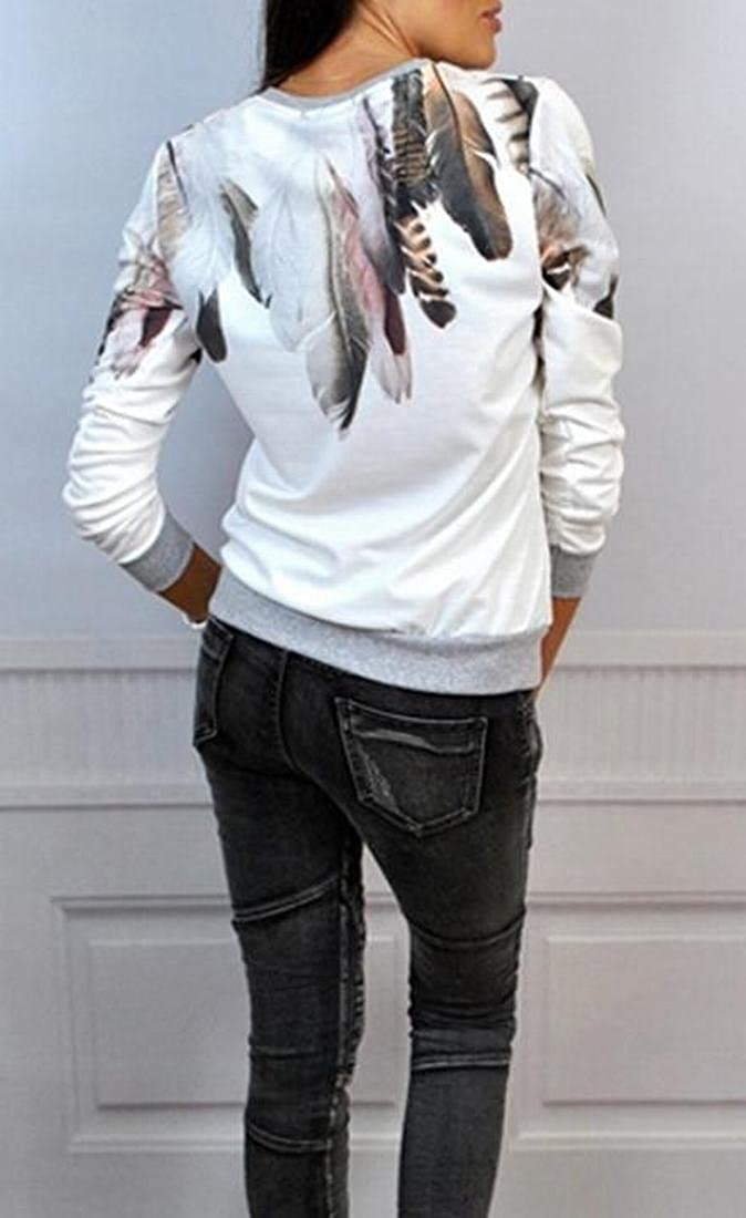 Honey GD Women Floral Printed Long Sleeve Pullover
