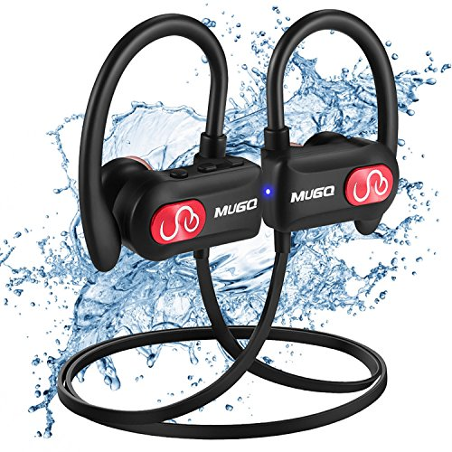 Bluetooth Headphones Waterproof IPX7, Wireless Earbuds Sport