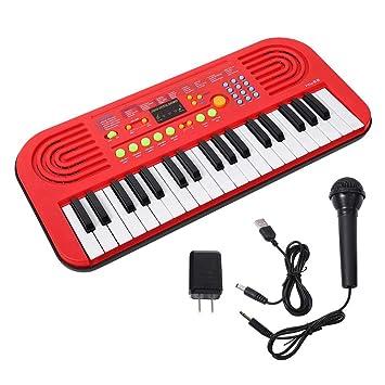 Alomejor Juguete para ninos con Instrumento de Piano, Teclado electrico Digital, Teclado de 37 Teclas, US 110-240V: Amazon.es: Deportes y aire libre