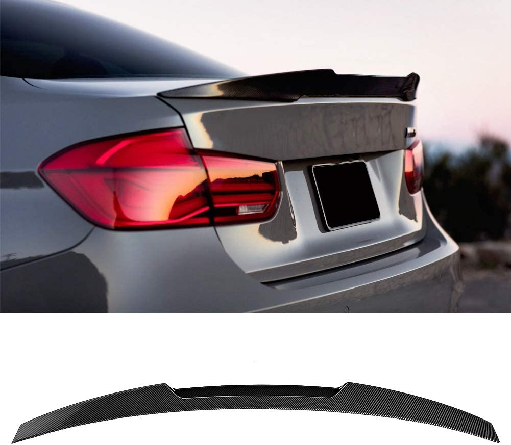 Spoiler de maletero trasero aler/ón de tapa de maletero High Kick M4 de fibra de carbono para 3 series F30 M3 F80 2013-2019