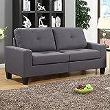 Fernanda Grey Fabric Sofa