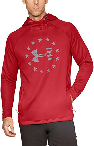Under Armour Mens Armour freedom tech terry hoodie Under Armour Apparel 1309409