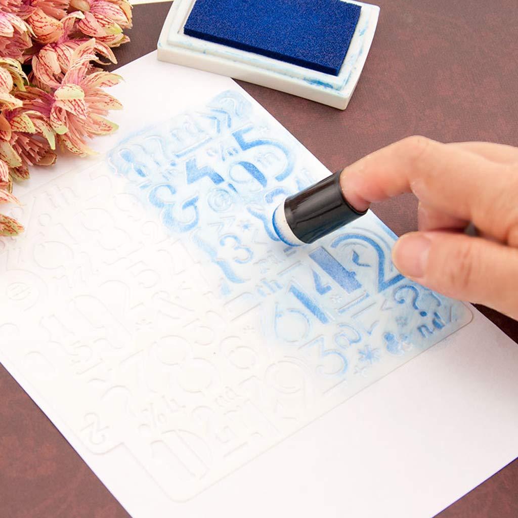 Eliky 3 st/ücke Schaum Schwamm Finger Sponger Malerei Tinte Kreide Stamping DIY Handwerk Scrapbooking Kunstwerkzeuge