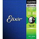 Elixir Strings 19052 Coated Nickel Electric Guitar Strings, Light (.010-.046)