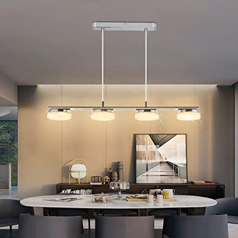 Amazon Com Depuley Led 4 Lights Pendant Light Modern Kitchen Island Lighting Fixture Adjustable Height Ceiling Mount Hanging Pendant Light For Contemporary Mid Century Dining Room Bar 20w 3000k Warm Light Home Improvement