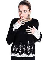 Women's Killstar Lestat Crop Knit Sweater Black