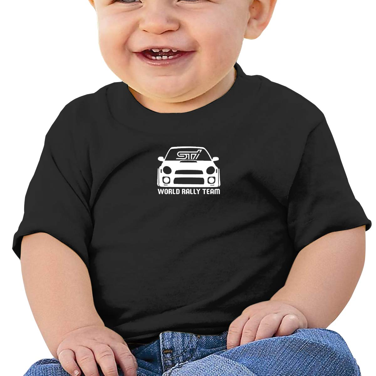 JVNSS World Rally Team Racing Baby T-Shirt Kids Cotton T Shirts Funny Tee Shirts for 6M-2T Baby