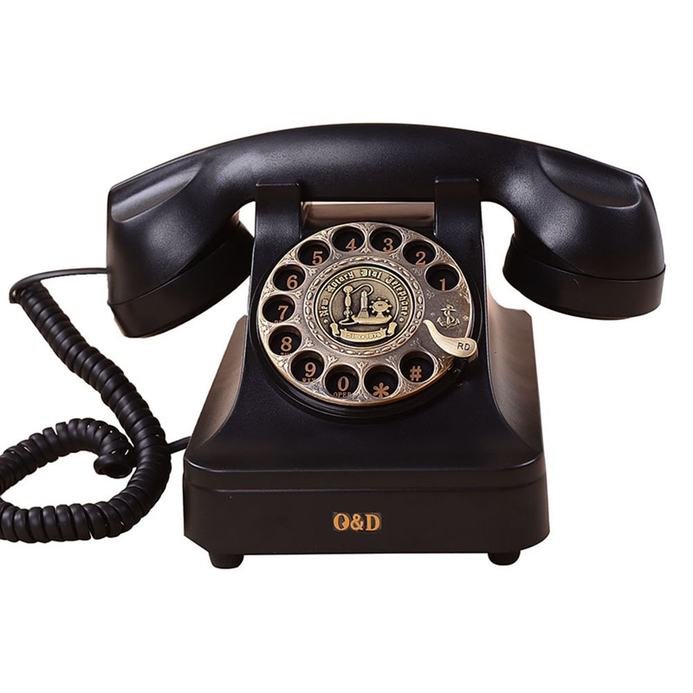 Fashion Home ZHILIAN Retro Old Style Telephone Rotate Dial Button Dial Office Landline European Style Personality