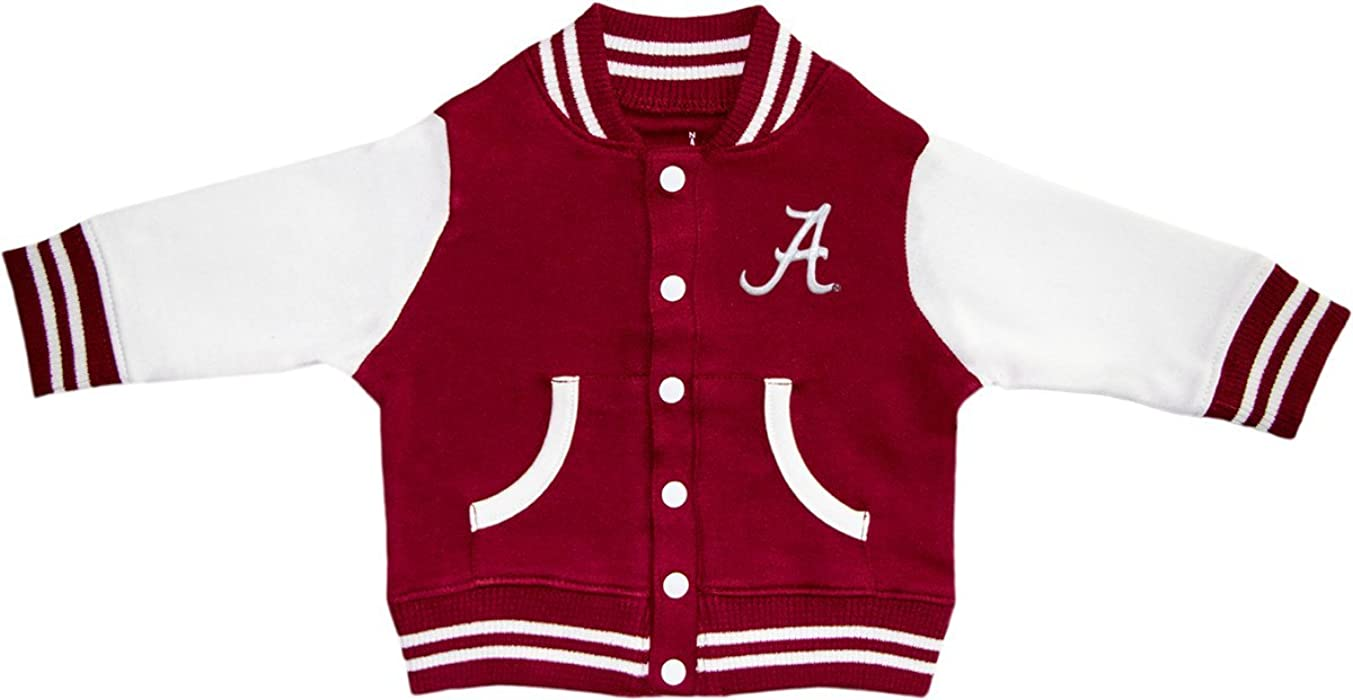 Amazon.com  University of Alabama Crimson Tide Script A Varsity Jacket   Clothing 08bb476b3640