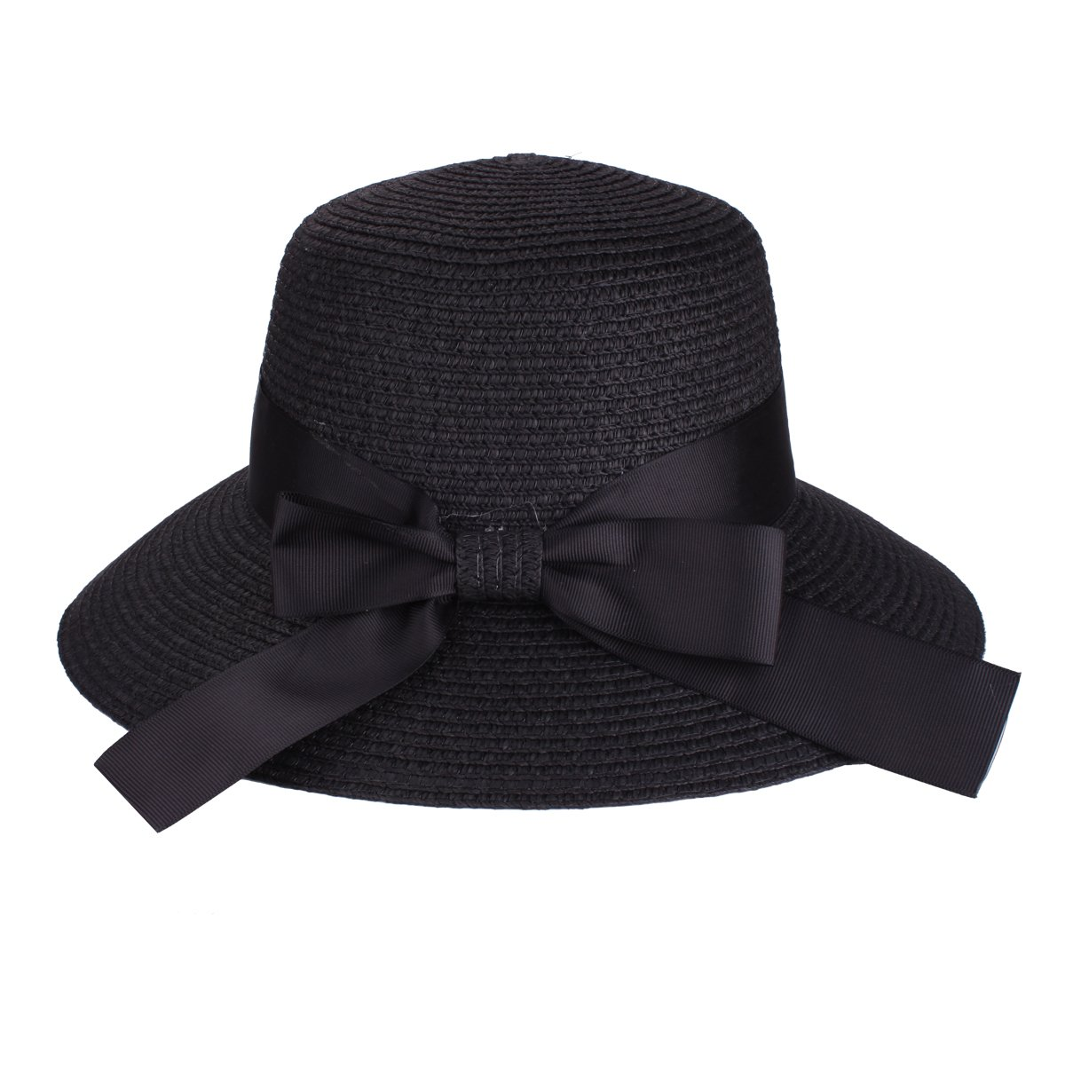 Floppy Hat Summer Beach Sun Straw Hats Anti-UV Protection Hat Travel Packable UPF 50+ Foldable Wide Brim Hat Travel Packable Cap for Women