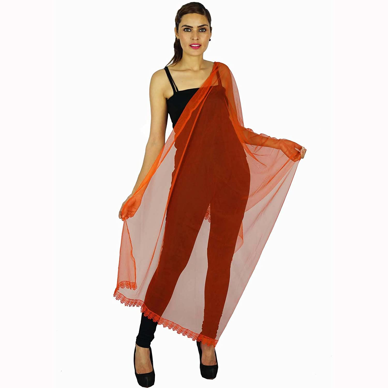 Indian Neck Wrap Lange Stola Chunni Mode Schal Frauen Hijab Dupatta