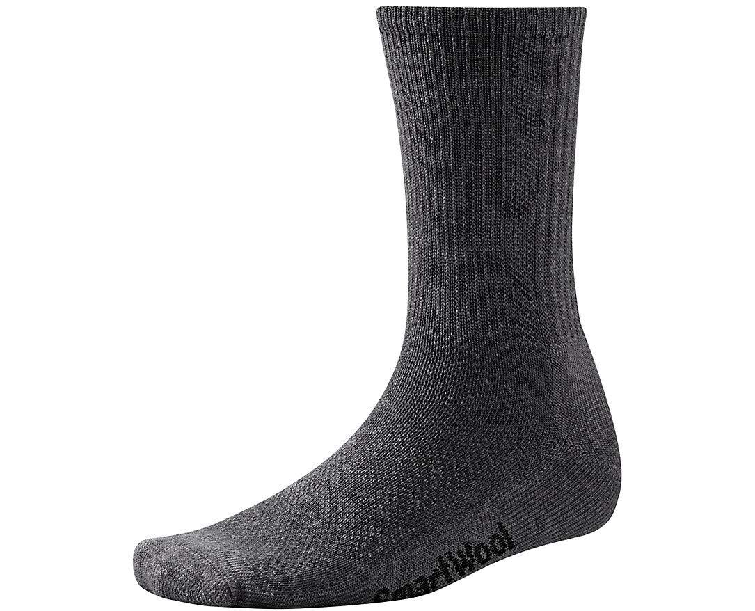 Men's Hike Ultra Light Crew Socks (Charcoal) Large by SmartWool