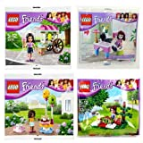 LEGO Friends: 30102 Olivia's Desk / 30106 Emma's Ice Cream Stand / 30107 Andrea's Birthday Party /30108 Mia's Summer Picnic (Japan Import)