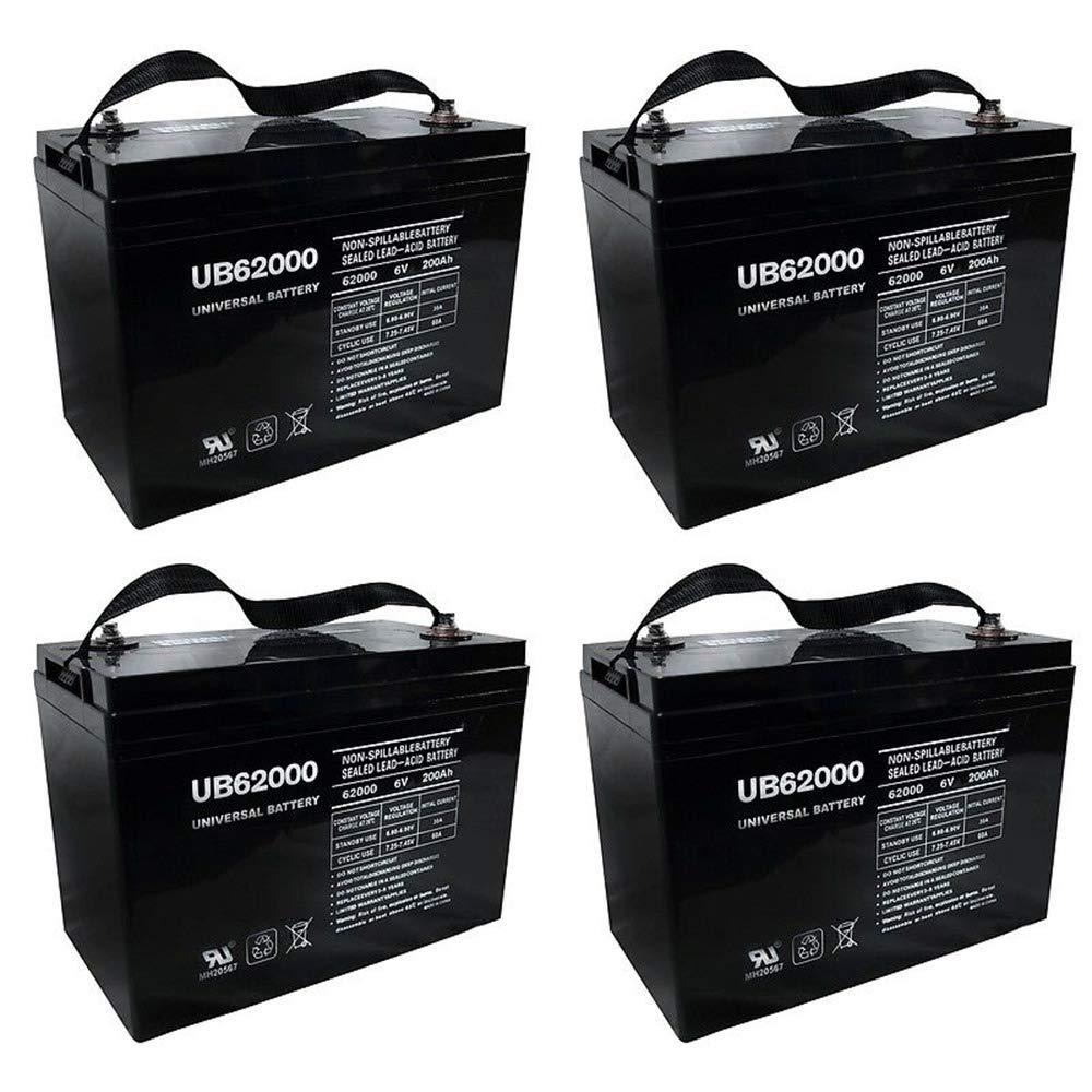 Universal Power Group UB62000 6V 200Ah Battery for M83CHP06V27 RA6-200 PS-62000 Pallet Jack Battery - 4 Pack